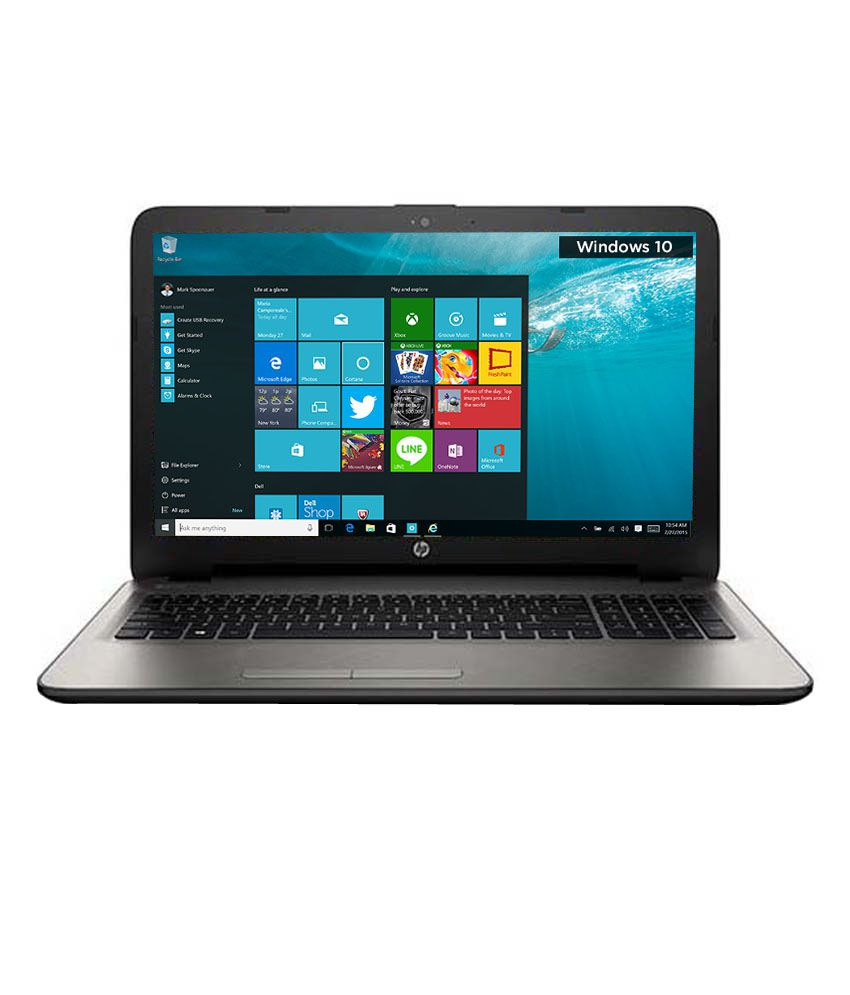 HP 15-af103AX Notebook (P3C93PA) (AMD APU A8- 4GB RAM- 1TB HDD- 39.62 cm (15.6)- Windows 10- 2GB Graphics) (Silver)
