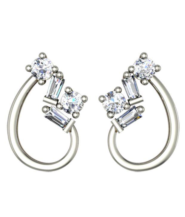 Jewelmantra 18Kt Gold Stud Earrings