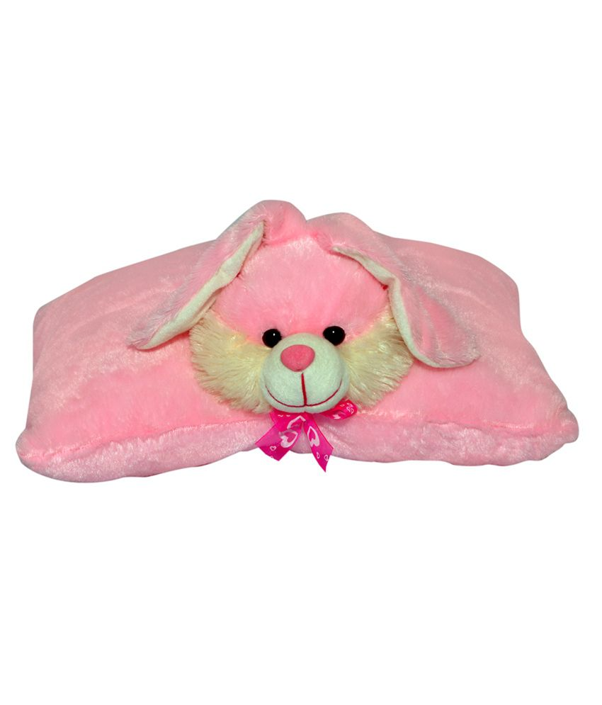 Joey Toys Pink Lovely Rabbit Shaped stuffed soft toy cushion pillow for boy, girl   40 cm