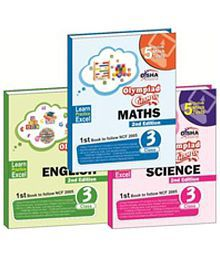 Olympiad Champs Science, Mathematics, English Class 3 with 15 Online Mock Tests 2nd Edition (set of 3 books) Paperback (English) 2nd Edition