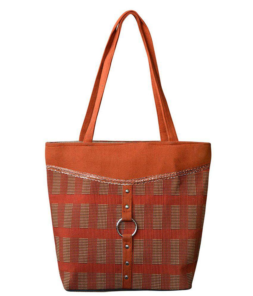 Bueva Orange Jute Shoulder Bag