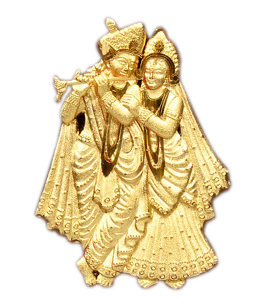 Taushini Glossy Gold Plated Radha Krishan Idols