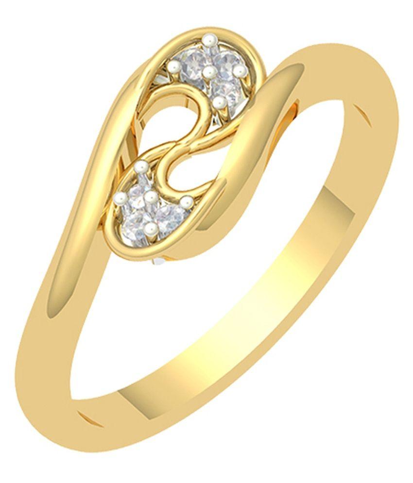 Corona 18Kt Yellow Gold Diamond Ring