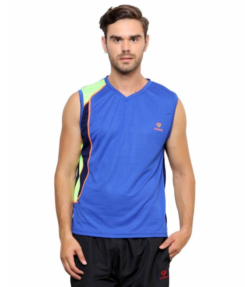 Gypsum Blue Polyester T Shirt