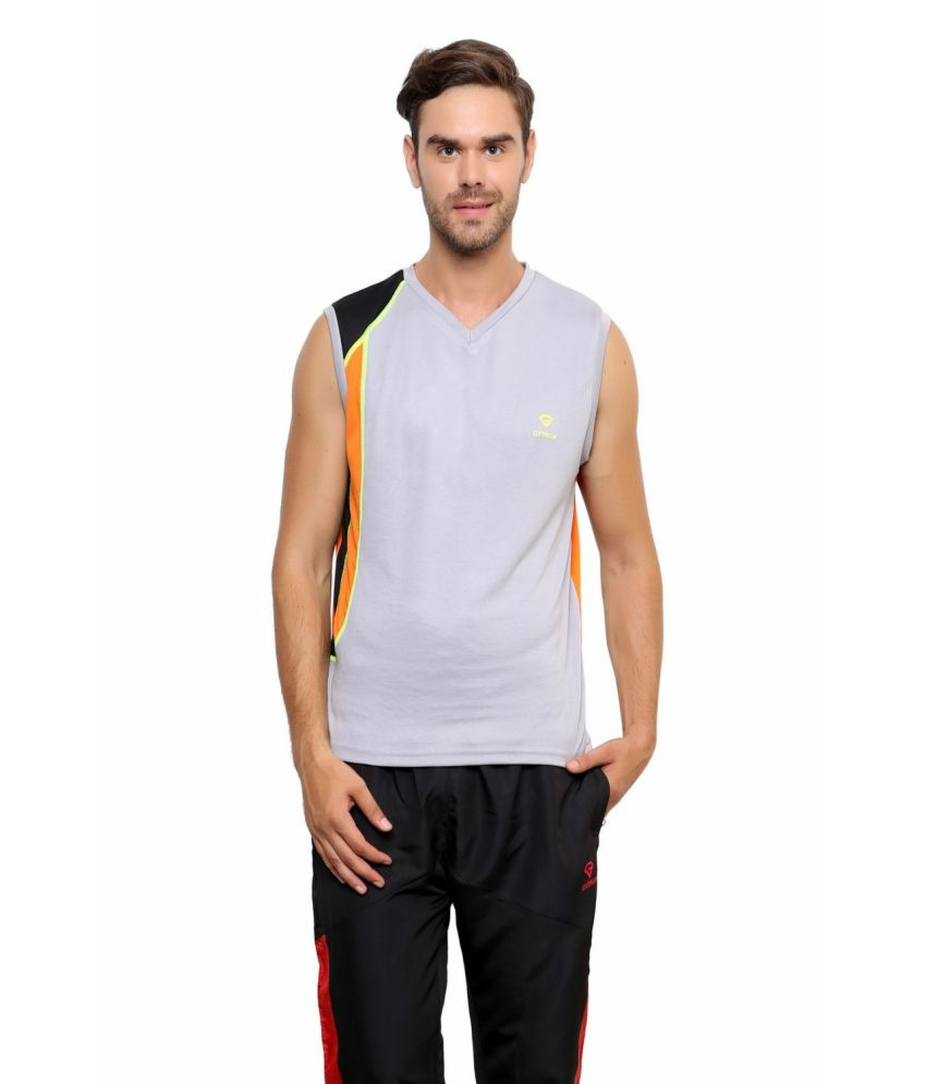 Gypsum Grey Polyester T Shirt