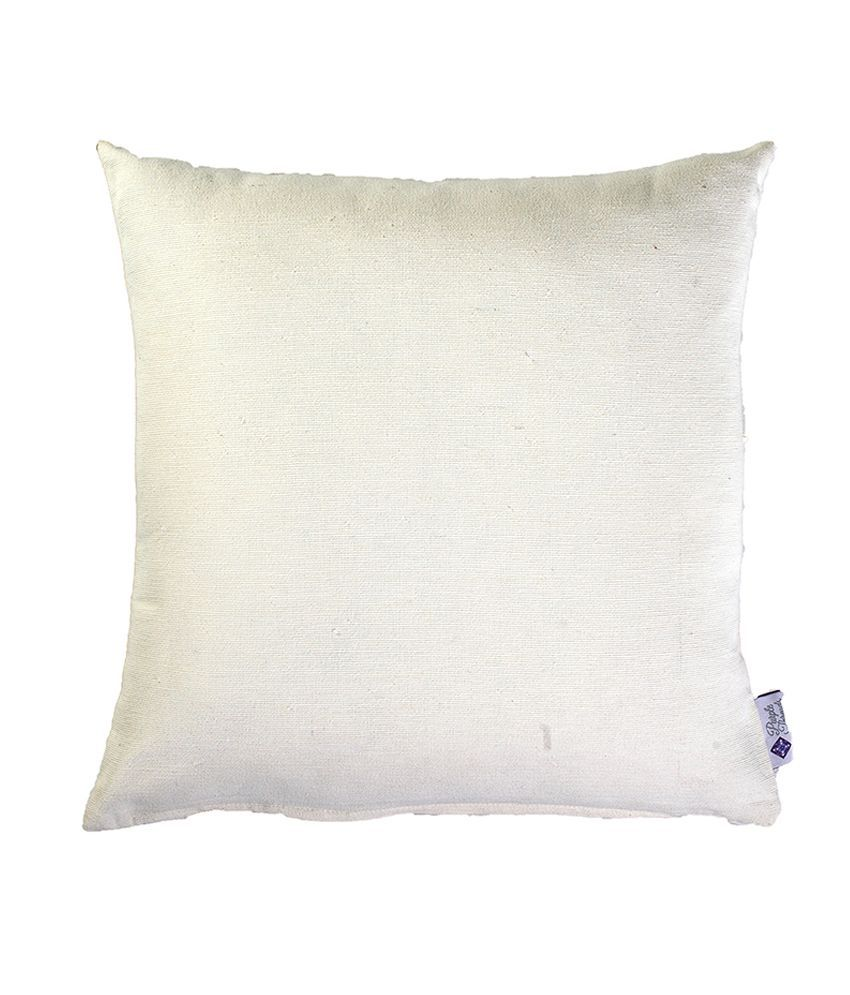 Purple Threads Tivoli Cotton Cushion Cover - White