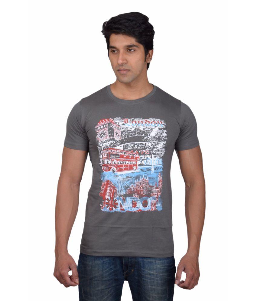 Tavara Grey Cotton T-Shirt