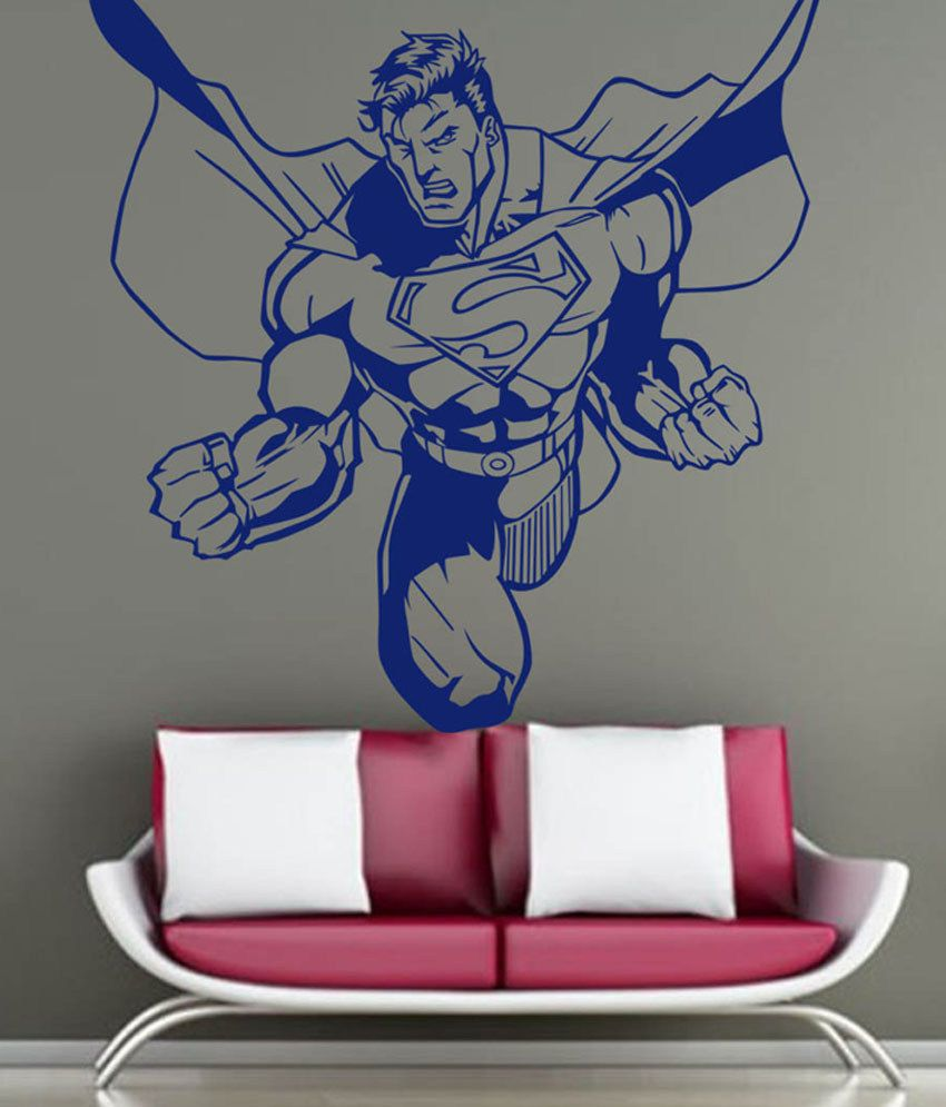 Trends On Wall Angry Superman Sticker