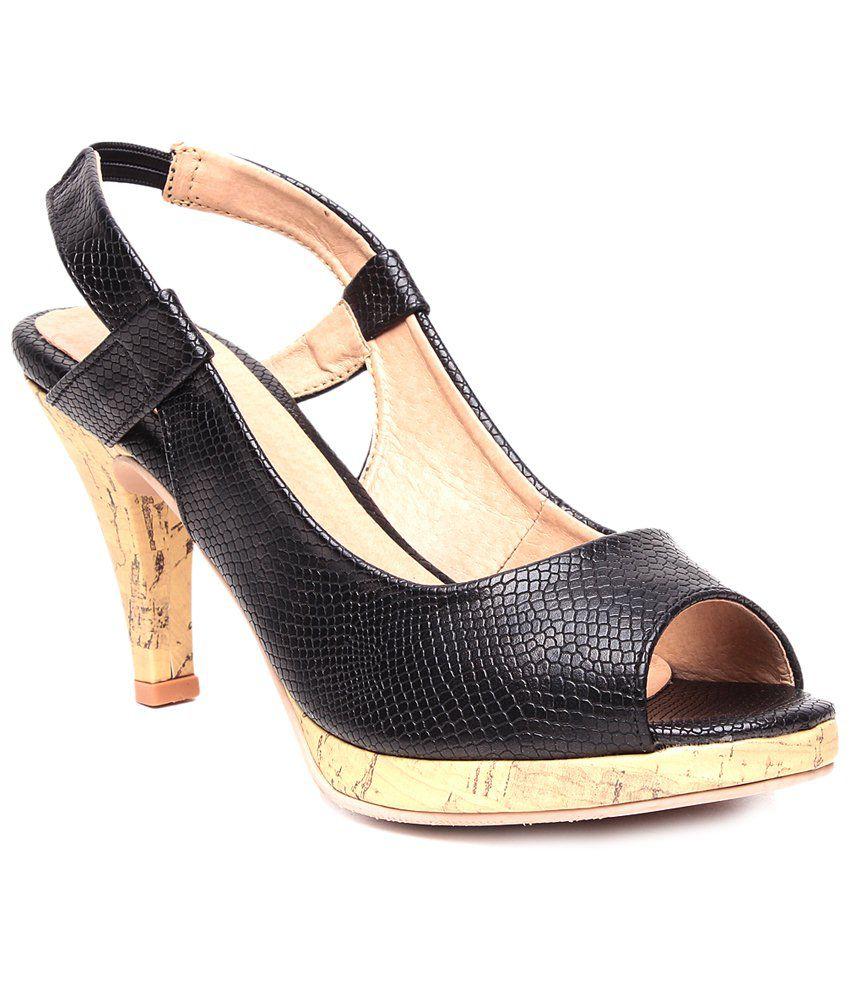 1165fdd6073a STEPpings Black   Beige Party Wear Heels Price in India- Buy STEPpings  Black   Beige Party Wear Heels Online at Snapdeal