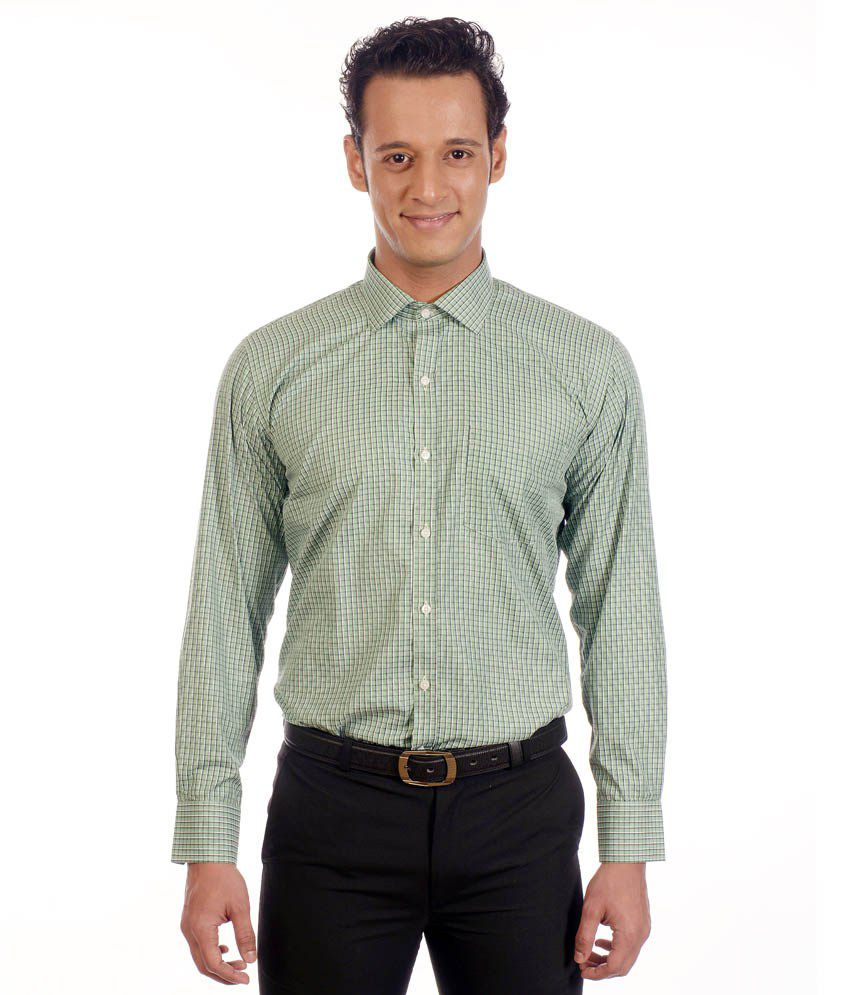 Exe Green Formal Shirt