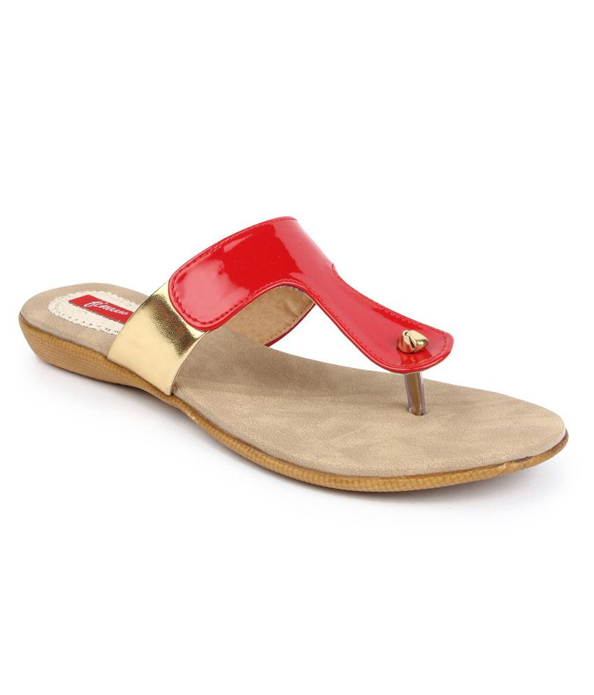 Finesse Red Heeled Slip-ons