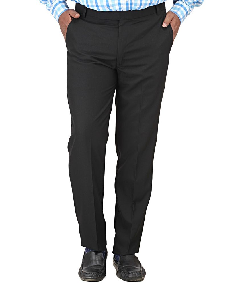 Outfits Clothing Black Slim Fit Formal Trouser