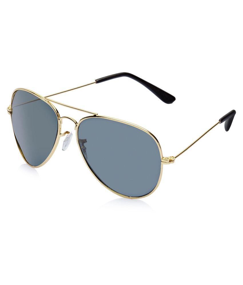 dffcc61c733 Vicbono Golden Frame Black Lens Aviator Sunglasses - Buy Vicbono Golden  Frame Black Lens Aviator Sunglasses Online at Low Price - Snapdeal