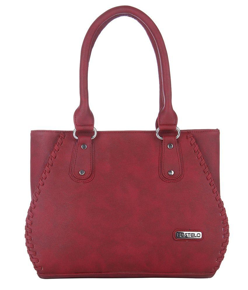 Fostelo Maroon Shoulder Bags