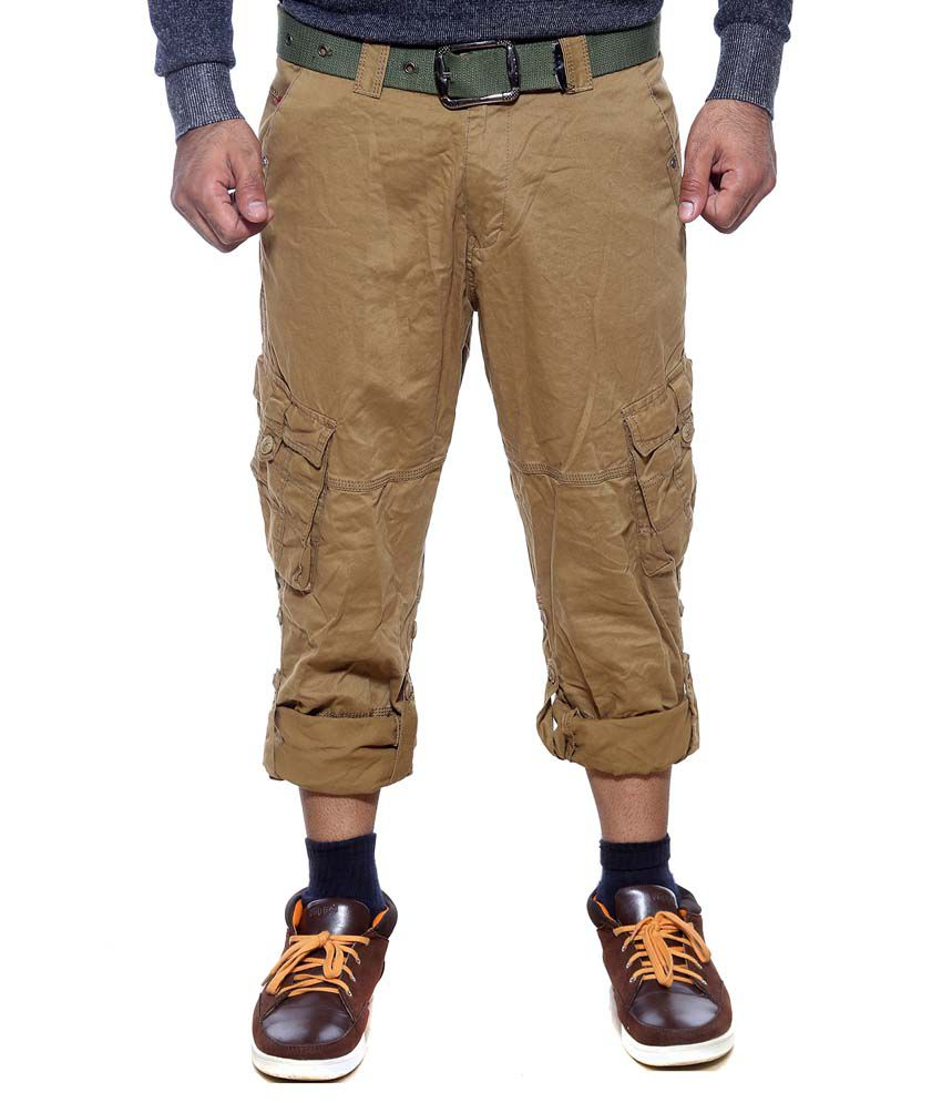 Sports 52 Wear Khaki Cotton Trouser