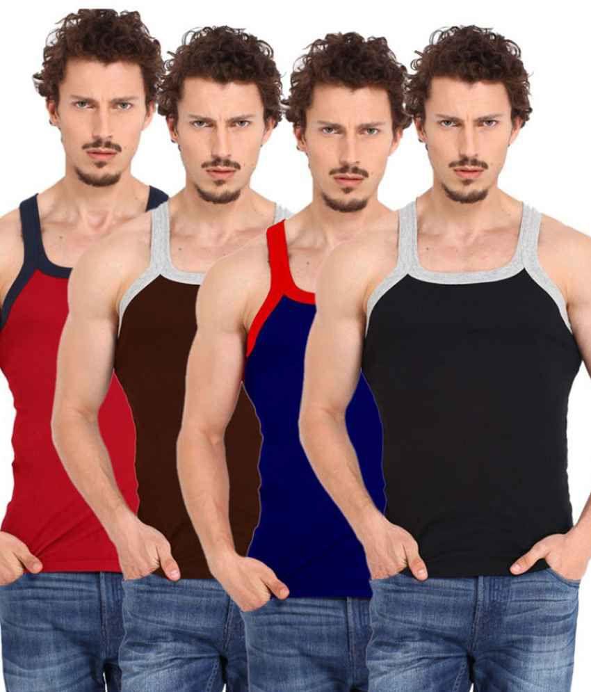 Zimfit Cotton Vest Combo Pack Of 4