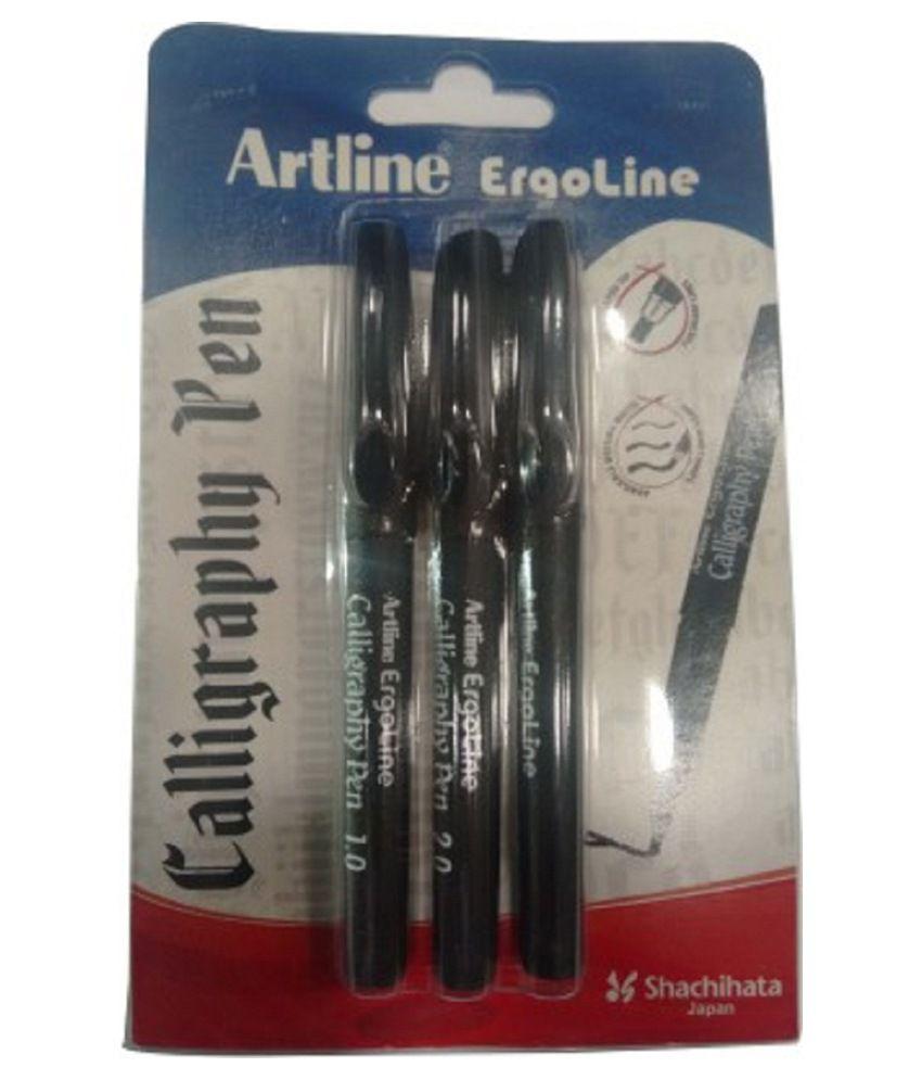 Artline Ergoline Calligraphy Pen With 3 Nib Sizes Red