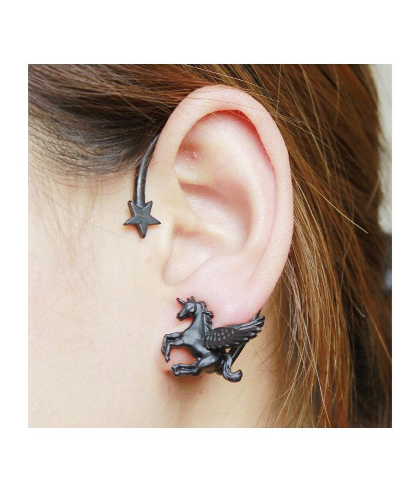 Cinderella Fashion Jewelry  Black Ear Cuffs