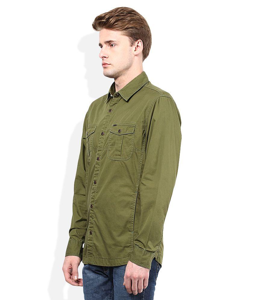 e0bd543208 Numero Uno Olive Green Slim Fit Casual Shirt - Buy Numero Uno Olive ...
