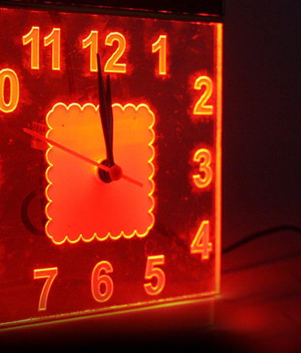 Neon Diner Clock