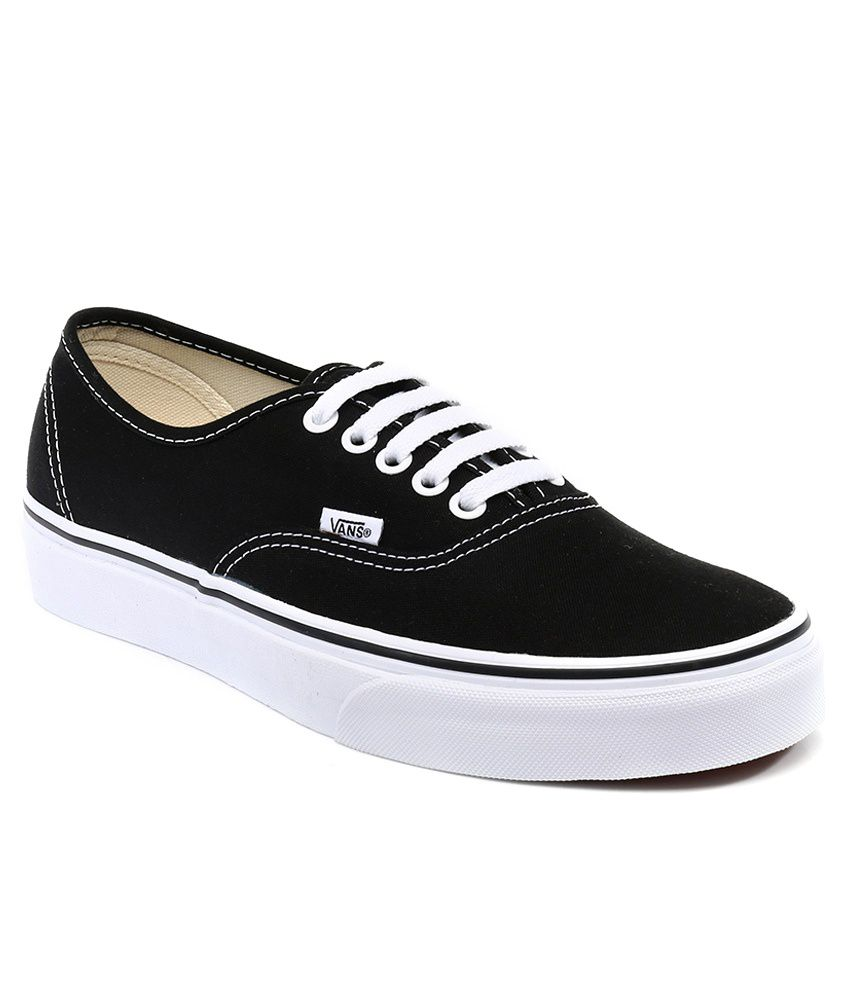 185a49cc21 Vans Authentic Black Casual Shoes - Buy Vans Authentic Black Casual ...