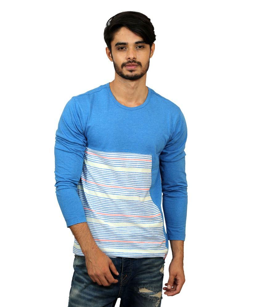 Magnoguy Turquoise Cotton T-shirt