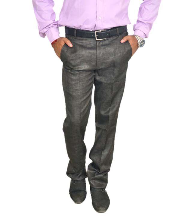 Review Black Slim Fit Formal Wear Flat Trouser