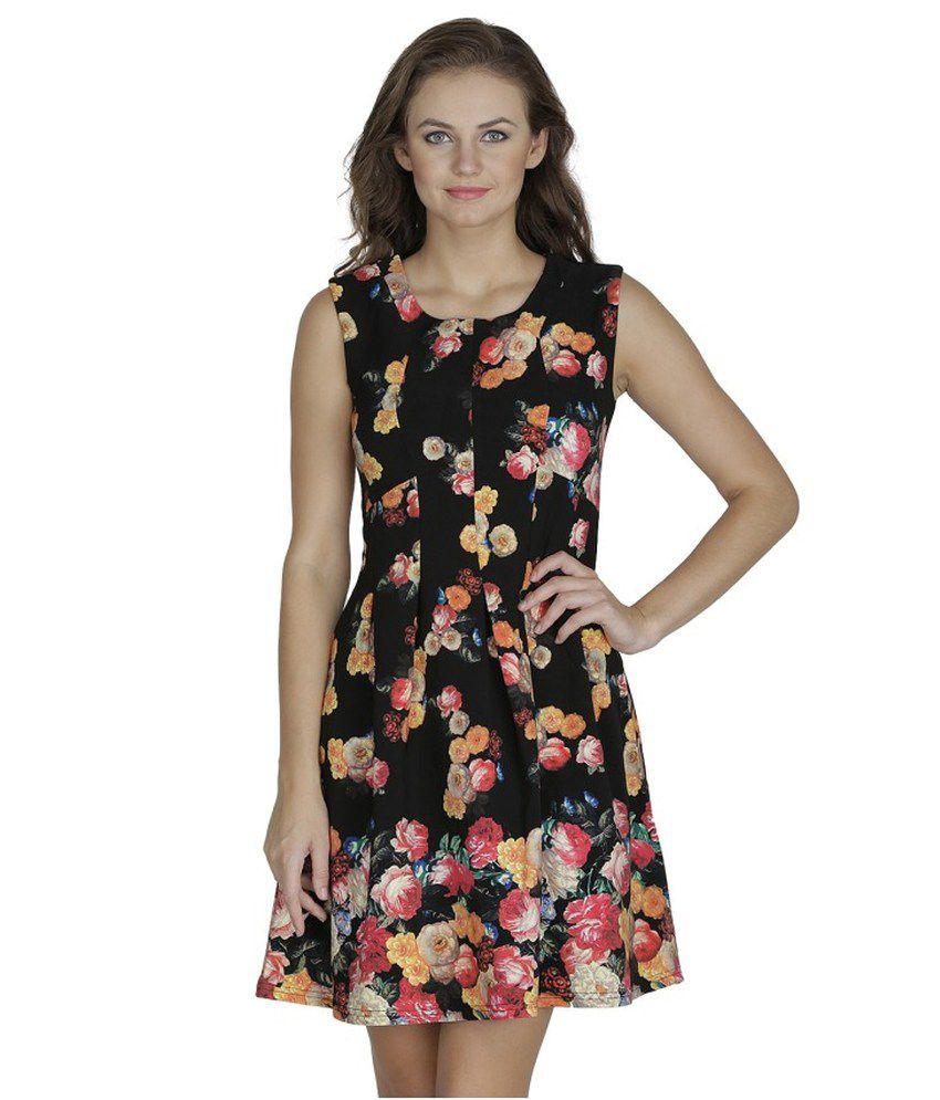SVT ADA Collections Black Poly Viscose Dresses