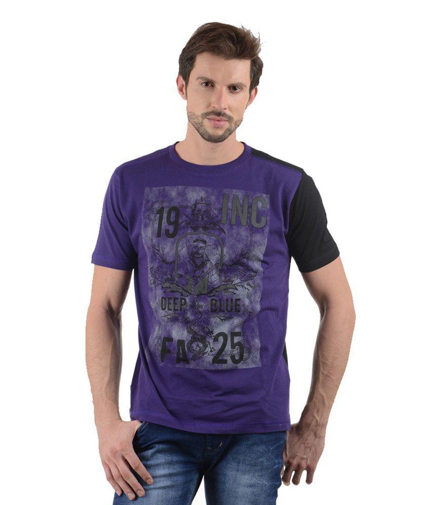 Tmo Purple Cotton T-shirt