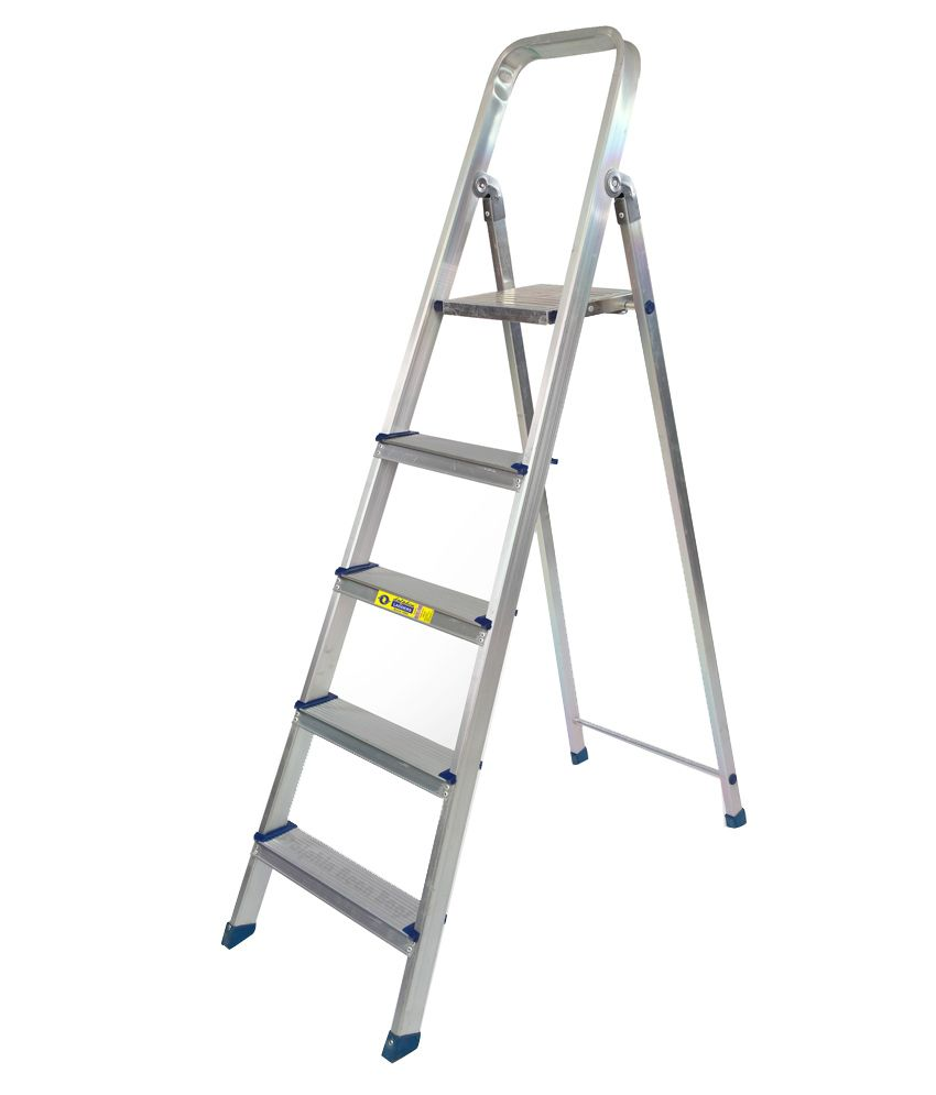 Dolphin aluminium top stand self suporting ladder 4 steps for Stand modulaire aluminium