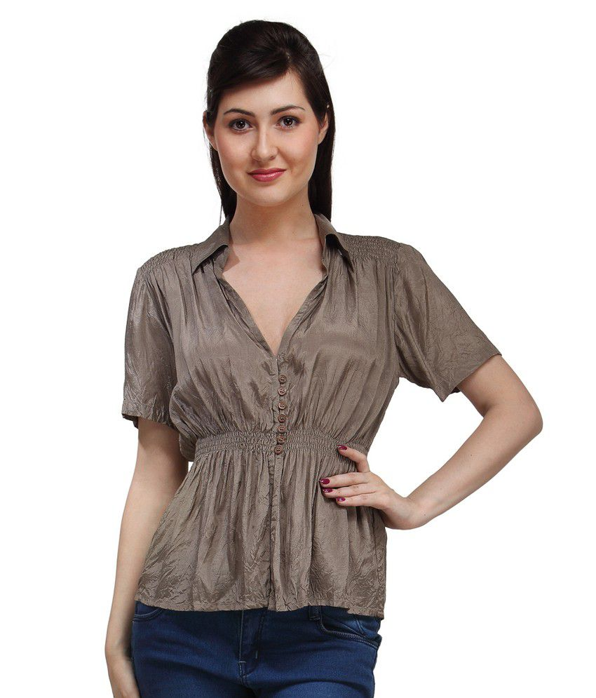 6f148243526e Eves Pret A Porter Brown Viscose Tops available at SnapDeal for Rs.299