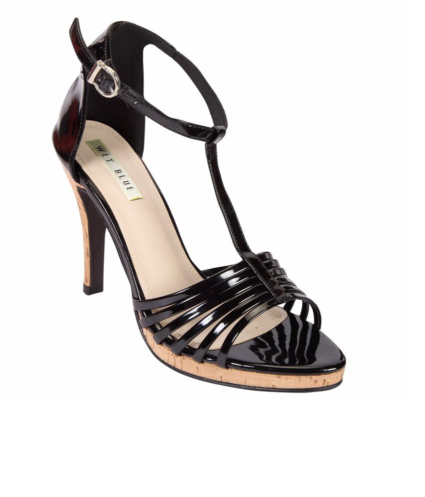 Wet Blue Envious Black Heeled Sandals