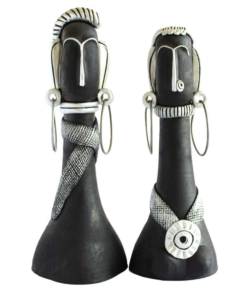 Kraftnation Terracotta Akila Black & Silver African Dolls Set