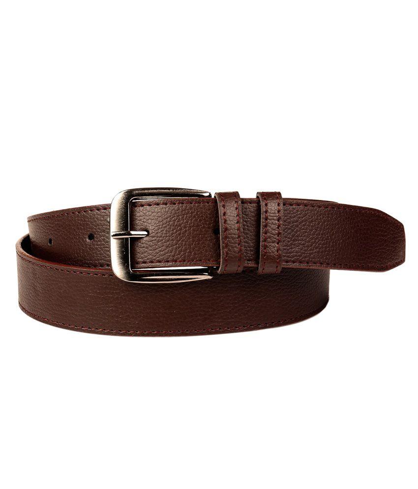 Porus Club Brown Casual Belt For Men