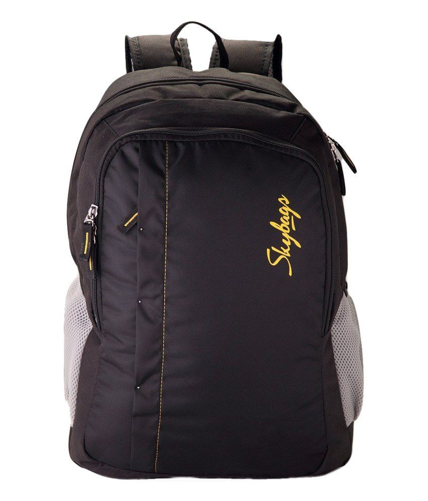 ca68a430b2ff Skybags black Backpack - Buy Skybags black Backpack Online at Low Price -  Snapdeal