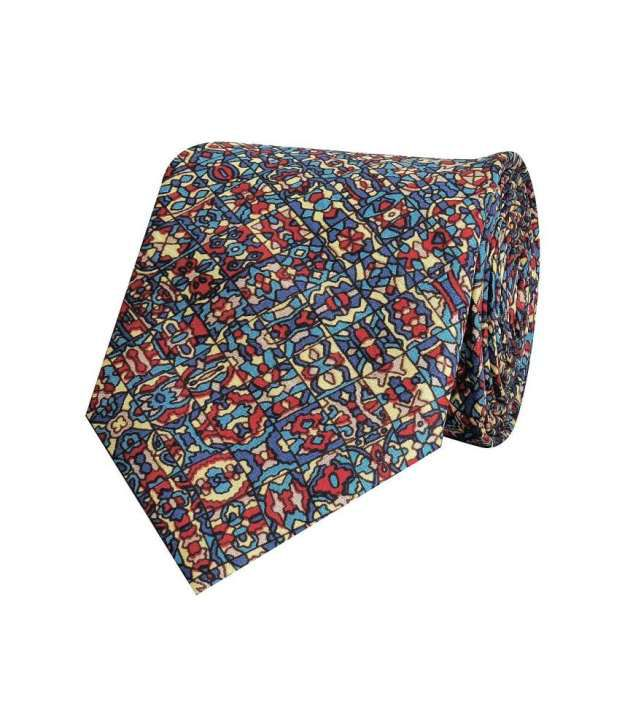 Tiekart Red and Blue Silk Tie