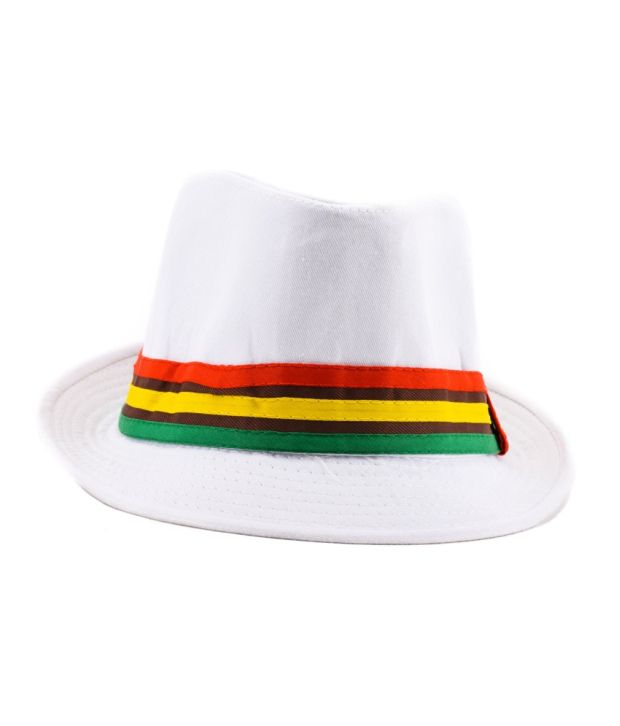 Tiekart White Polyester and Cotton Hat