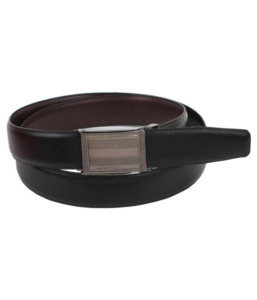 Abhinavs Black Italian Leather Belt For Men