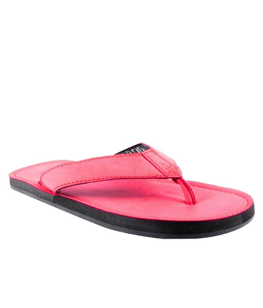 First Step Red Flip Flops