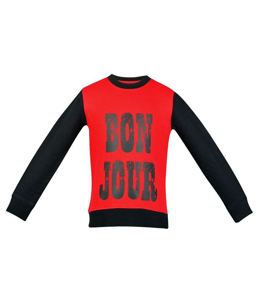 Gkidz Red Cotton Sweatshirt