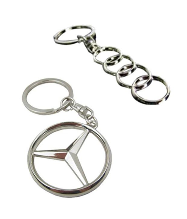 de876b9b3 I-gadgets Audi 4 Ring And Mercedes Benz Logo Metal Keychain Combo  Buy  I-gadgets Audi 4 Ring And Mercedes Benz Logo Metal Keychain Combo Online at Low  Price ...