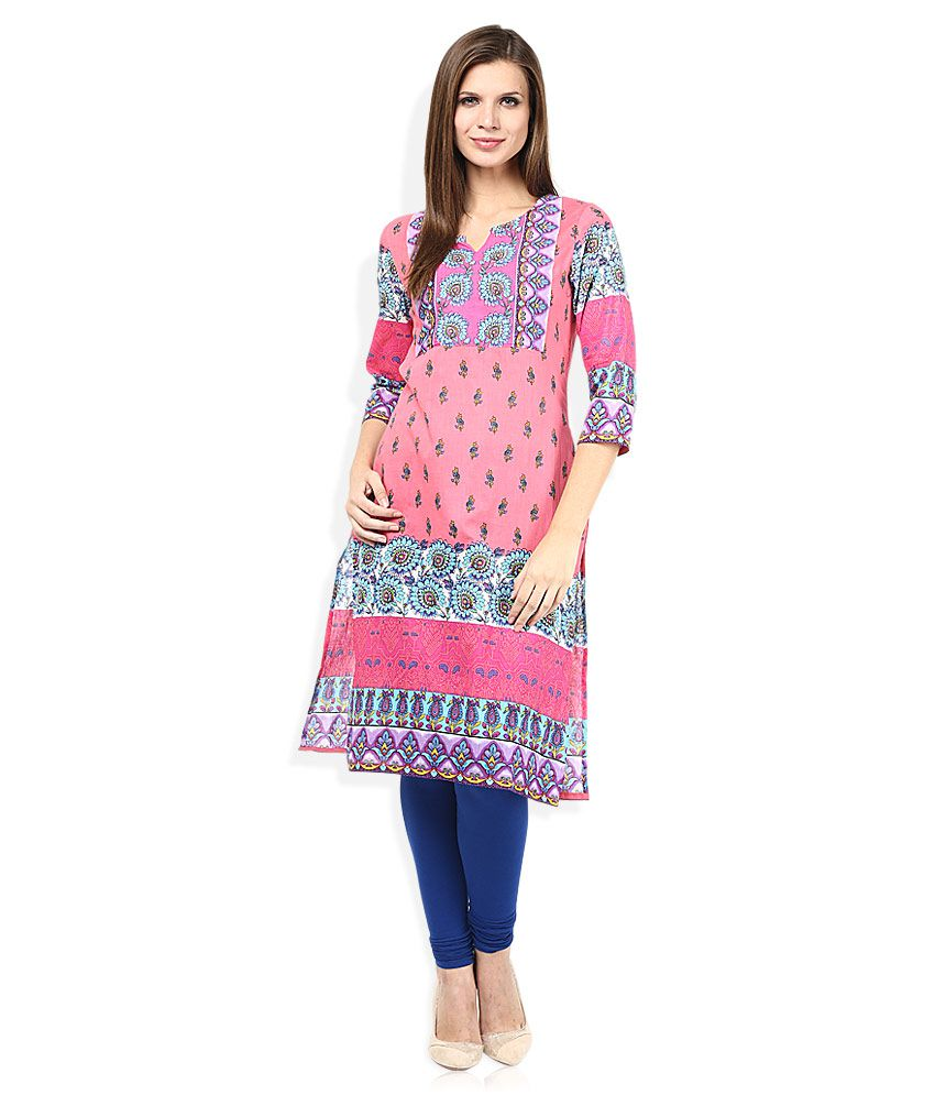 Rain & Rainbow Red Kurta