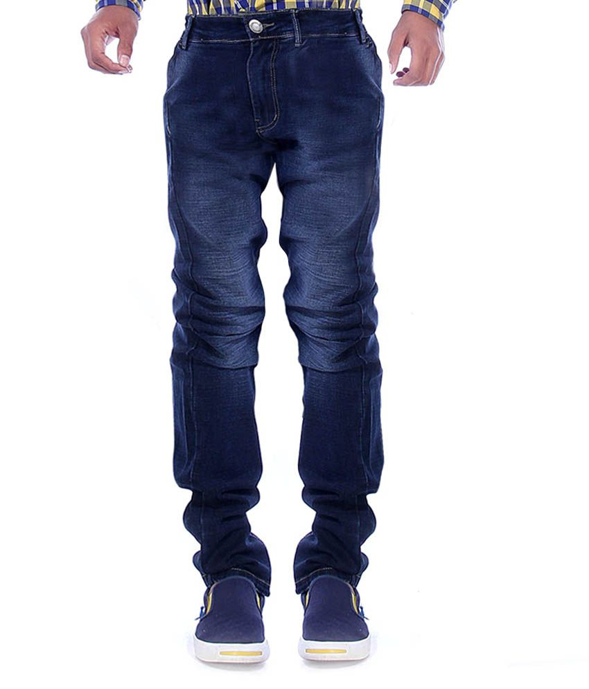Voizer Blue 100 Percent Cotton Jeans