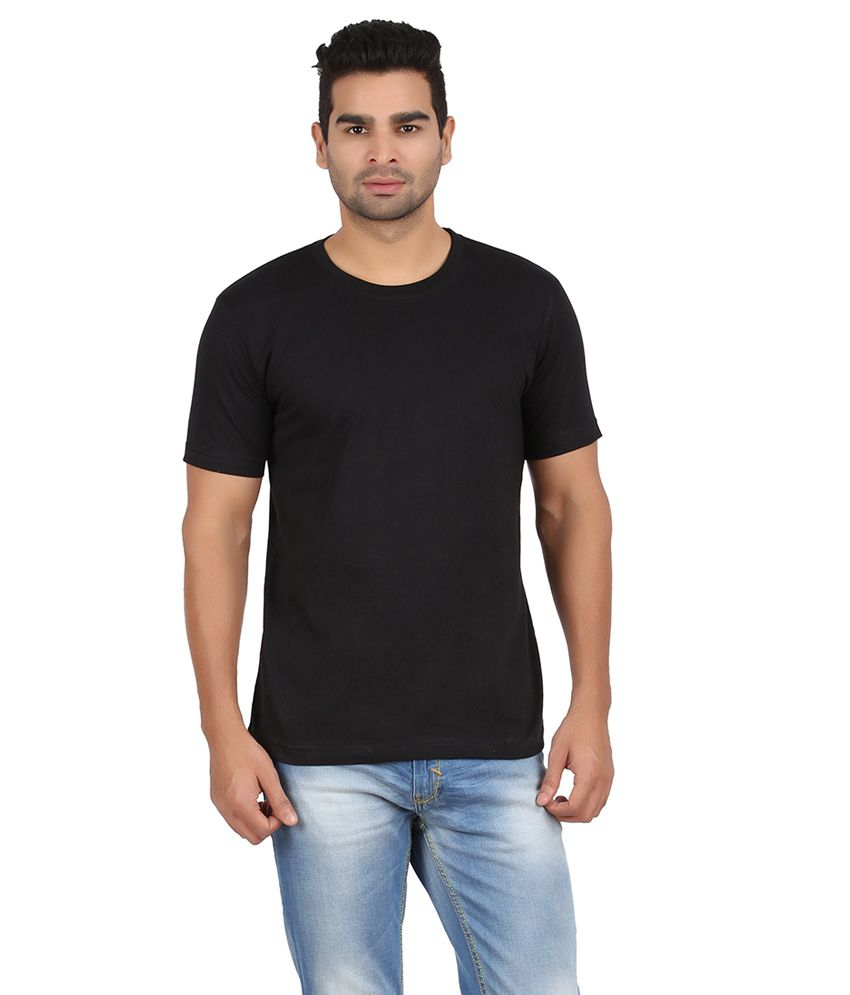 Evangeline Black Cotton T Shirt