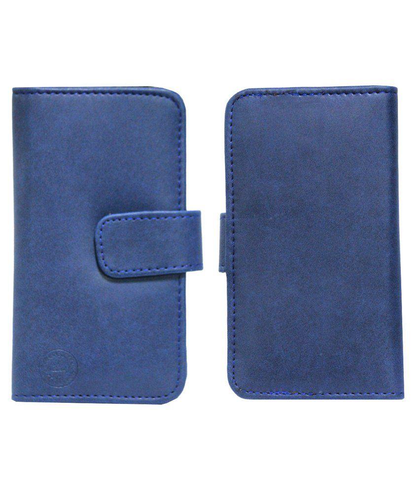 Jo Jo Flip Cover For Xolo Q600-Blue