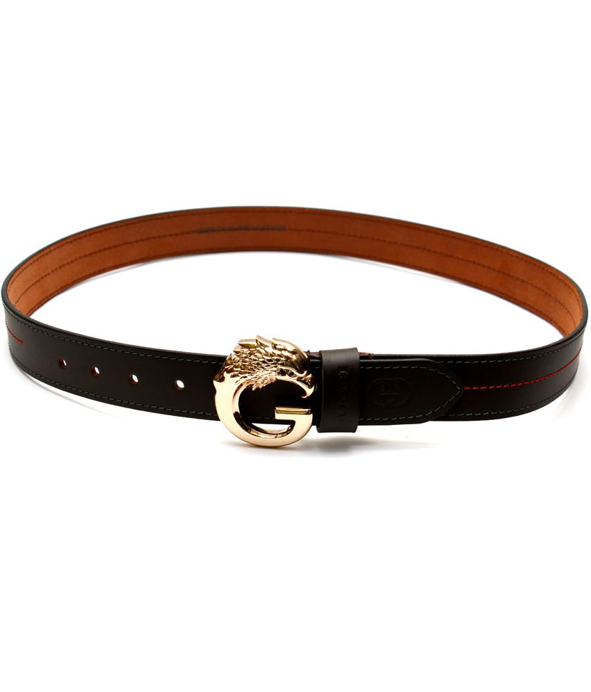 Krazoo Black Casual Belt For Men