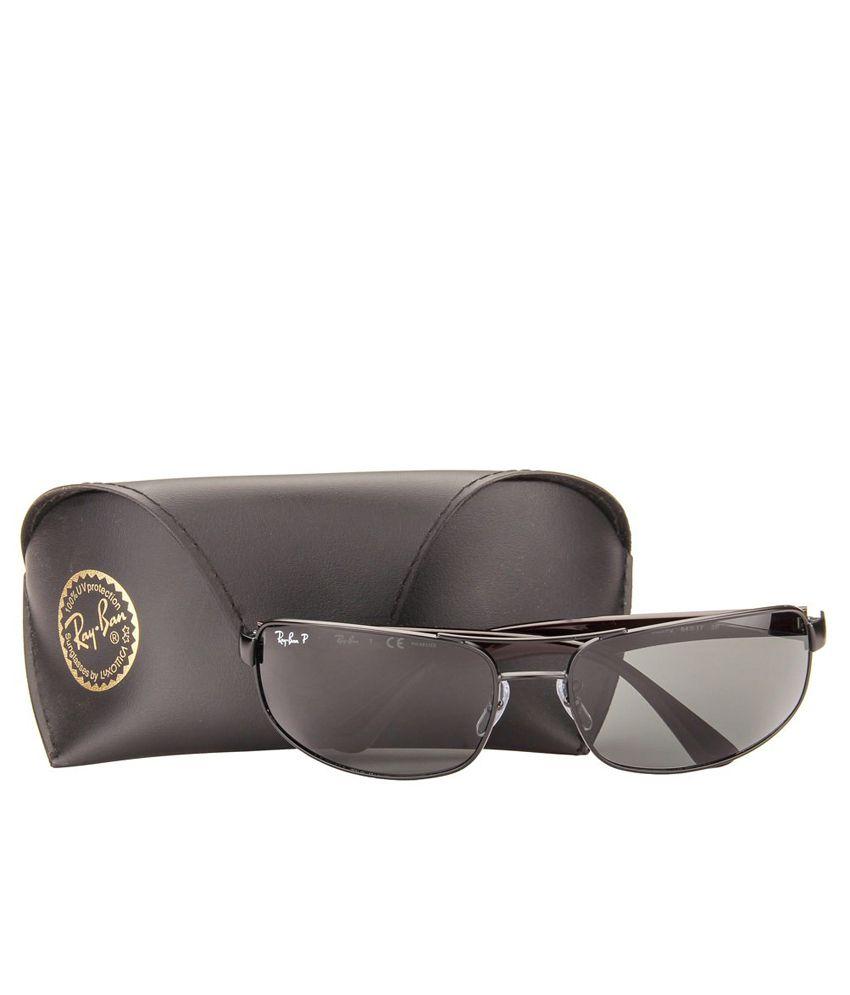 f7e6f05a13a ... Ray-Ban Grey Polarized Rectangle Sunglasses (RB3445 006 P2 64-17) ...
