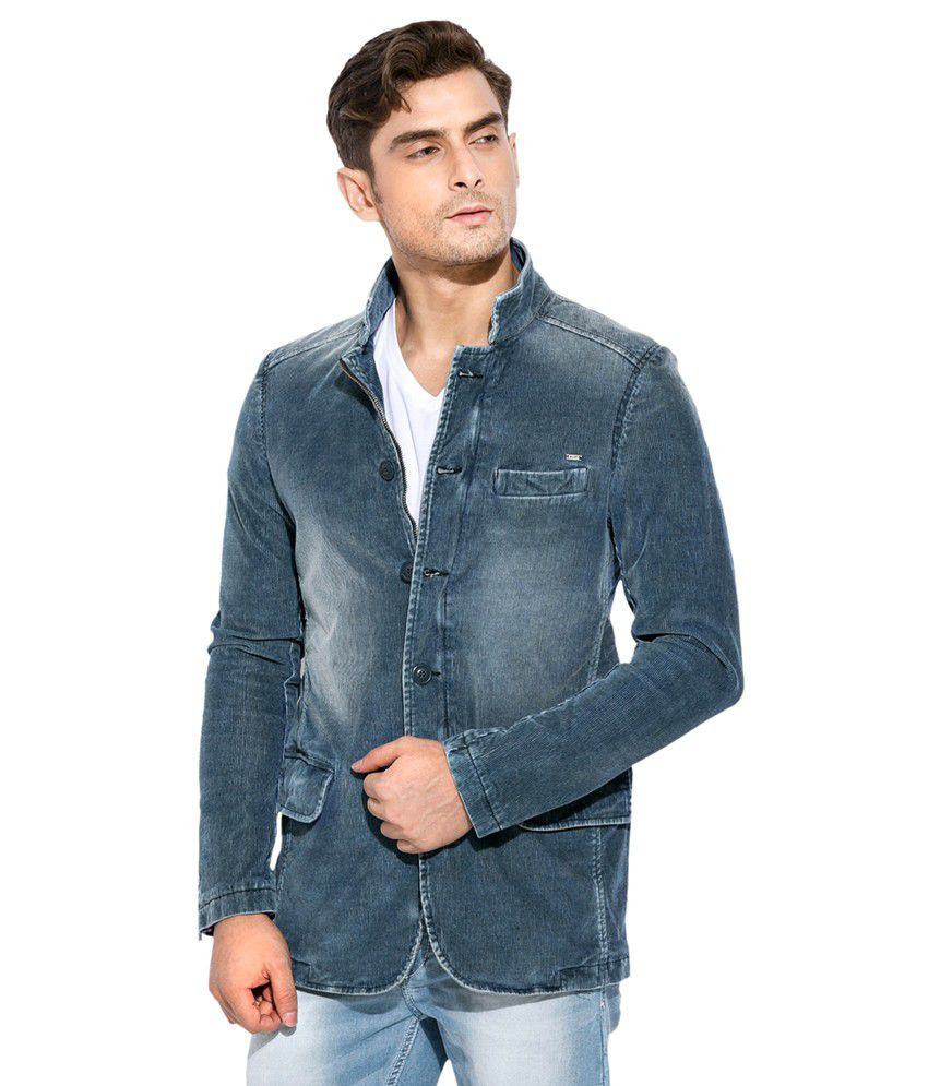 Mufti Blue Casual Blazer - Buy Mufti Blue Casual Blazer Online At Best Prices In India On Snapdeal