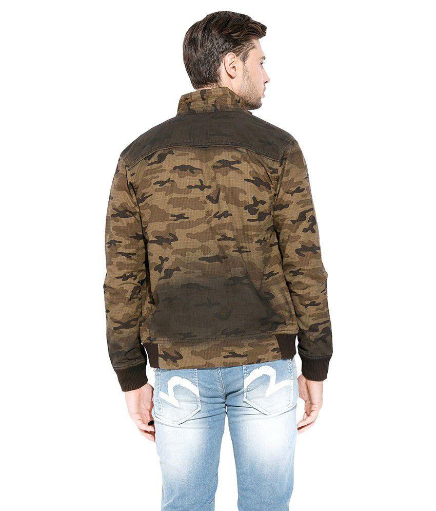 0a2b6c0d2 Mufti Khaki Printed Bombar Jacket