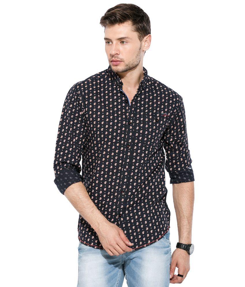 9aeab2c9 Mufti Black Printed Shirt - Buy Mufti Black Printed Shirt Online at ...